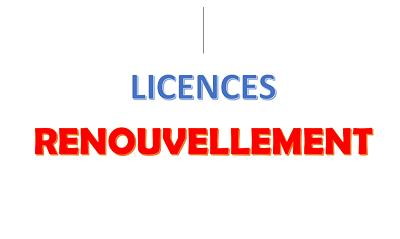 Licences sam 1